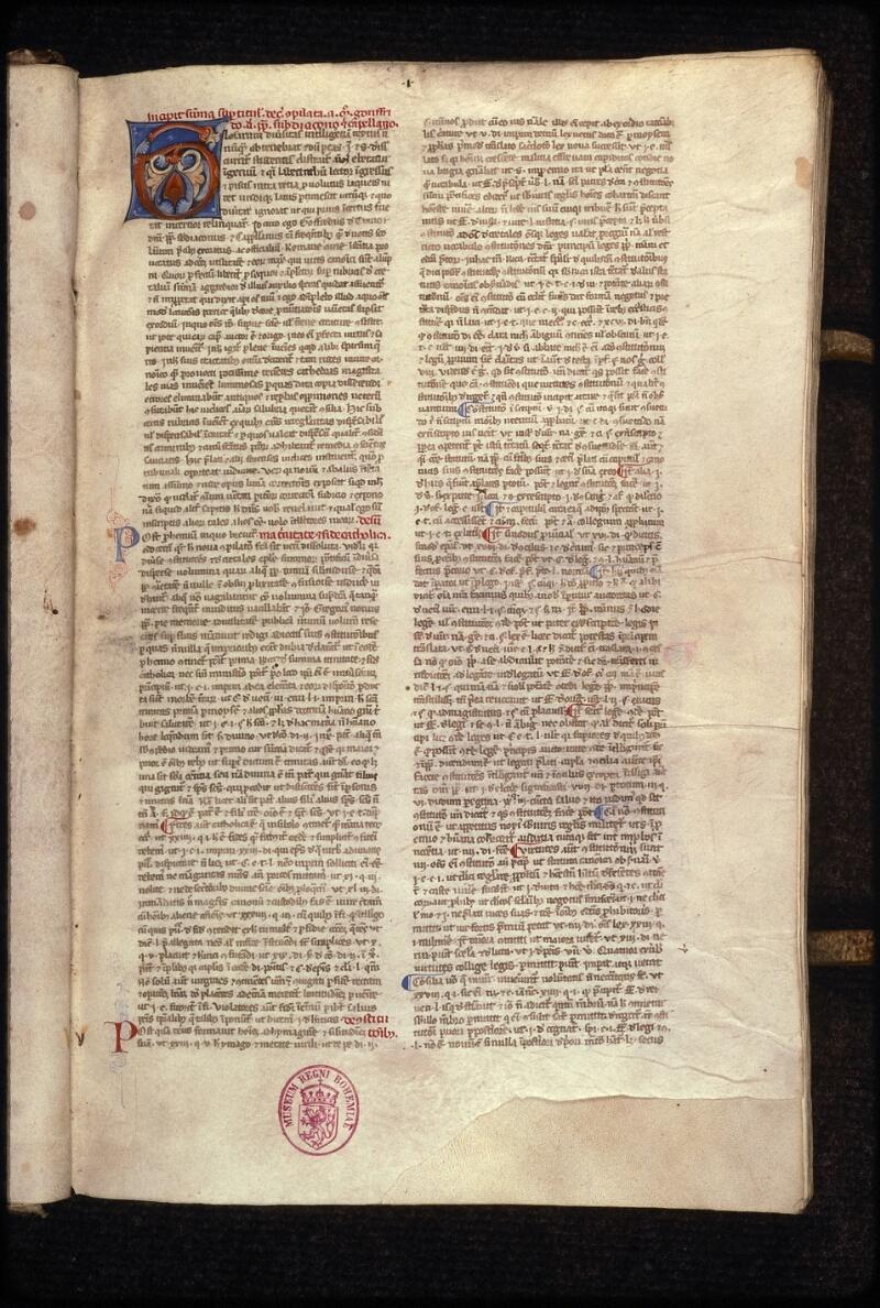 Prague, Musée nat., Bibl., XVII. B. 09, f. 001 - vue 2