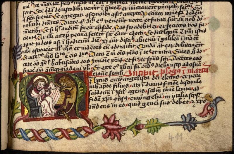 Prague, Musée nat., Bibl., XVIII. B. 18, f. 411