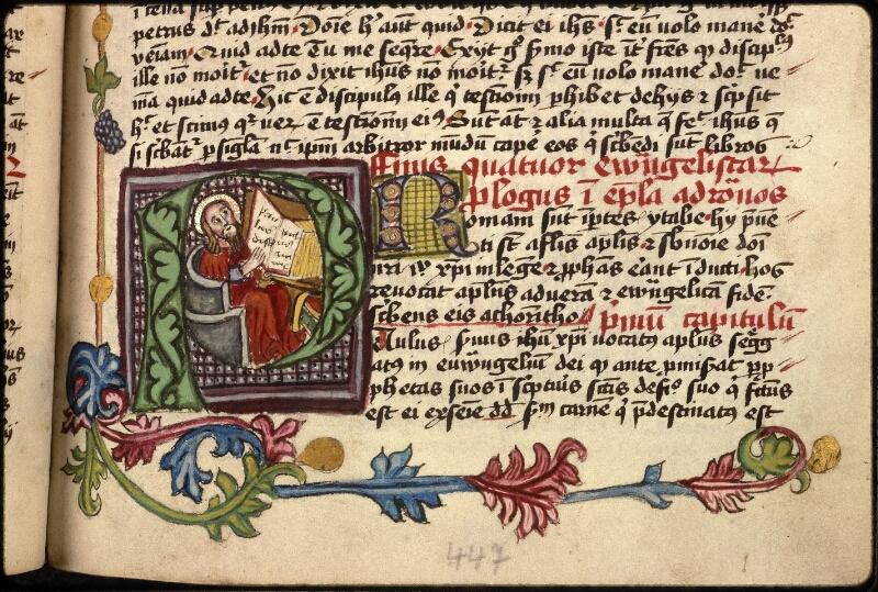 Prague, Musée nat., Bibl., XVIII. B. 18, f. 447
