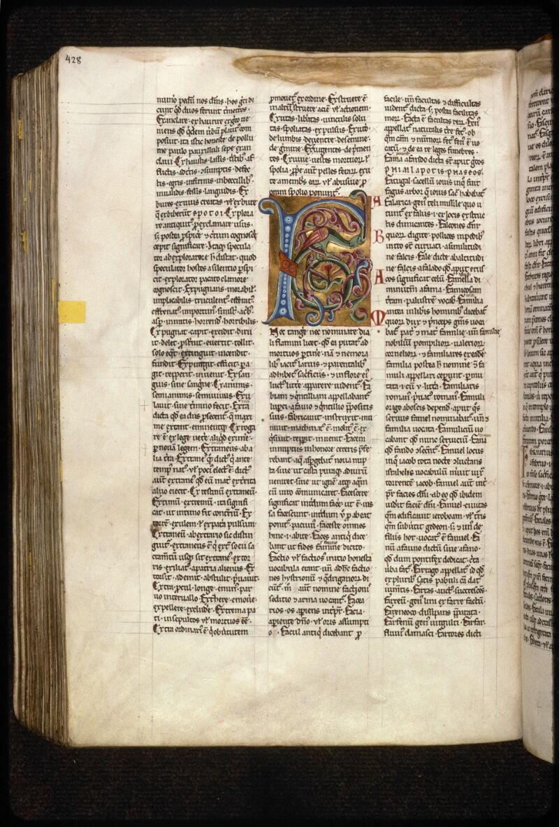 Prague, Musée nat., Bibl., X. A. 11, f. 215v - vue 1