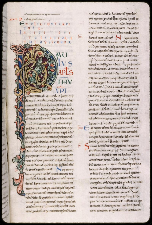 Sées, Bibl. de l'Evêché, ms. 0002, f. 182 - vue 1