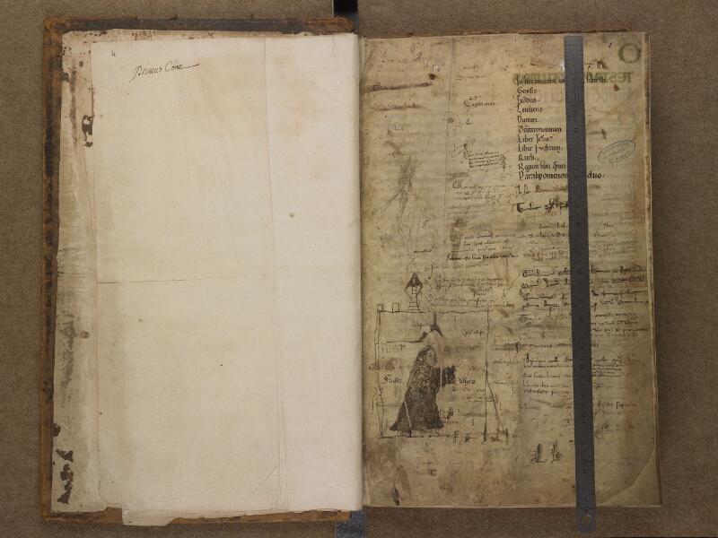 SAINT-OMER, Bibliothèque municipale, 0001, f. 000Bv - 001 avec réglet