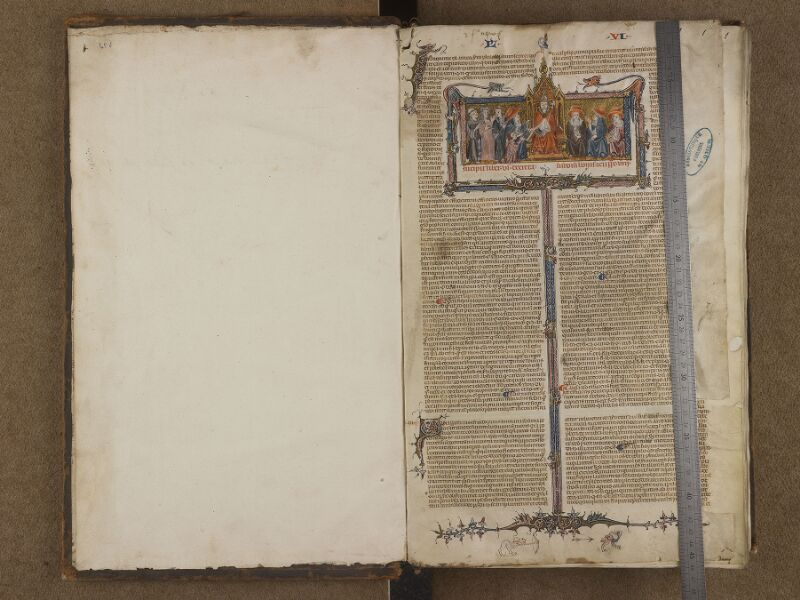 SAINT-OMER, Bibliothèque municipale, 0456, f. 000Av - f. 001 avec réglet