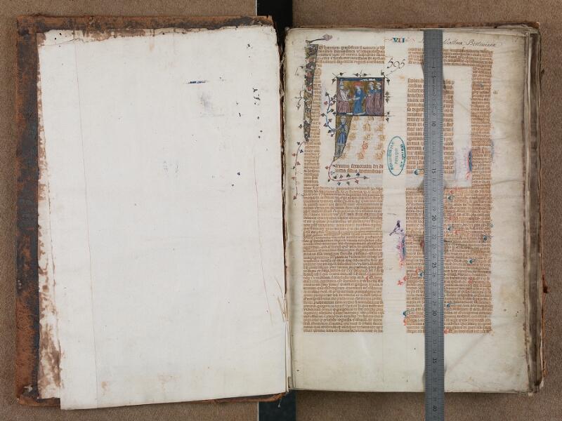 SAINT-OMER, Bibliothèque municipale, 0479, f. 000Av - f. 001 avec réglet