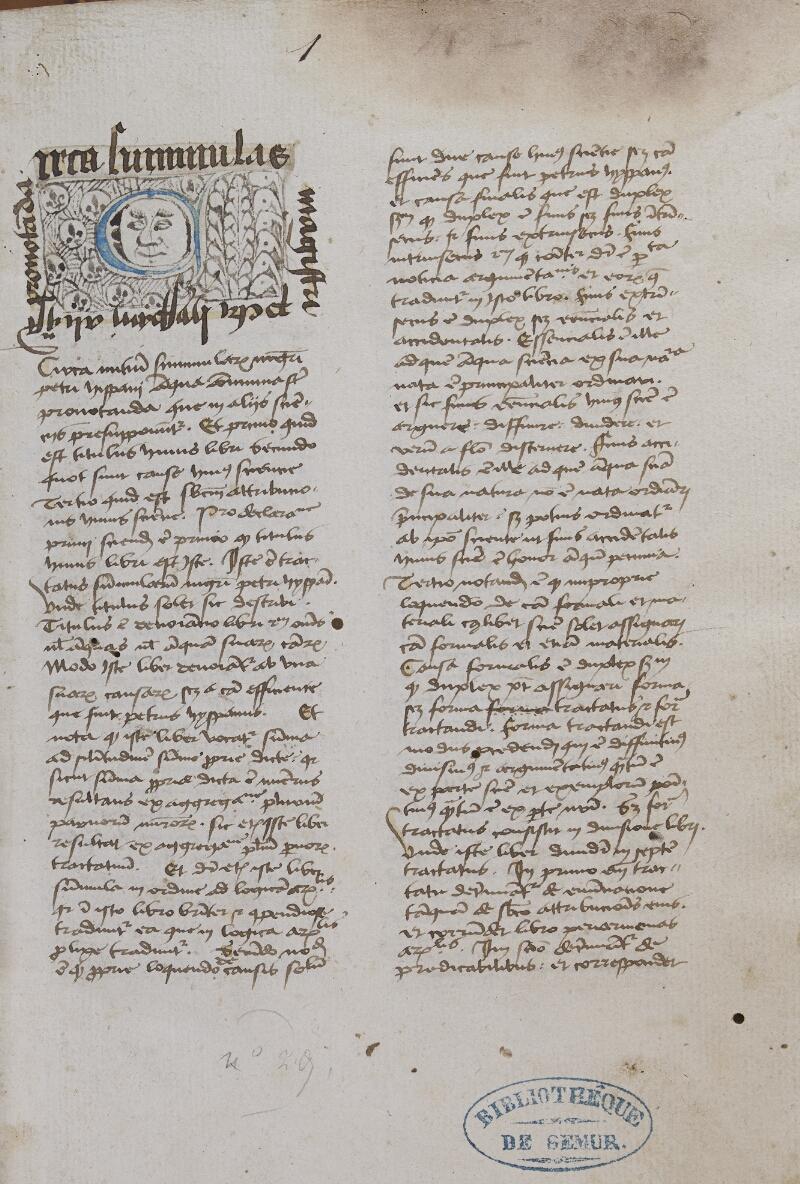 Semur-en-Auxois, Bibl. mun., ms. 0035, f. 001 - vue 1