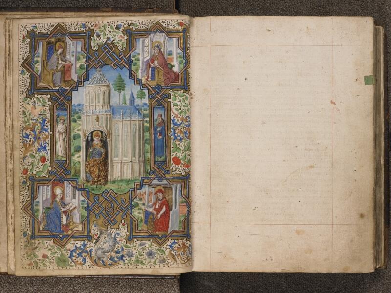 TOURNAI, Bibliothèque du Séminaire, 043, f. 007v - 008