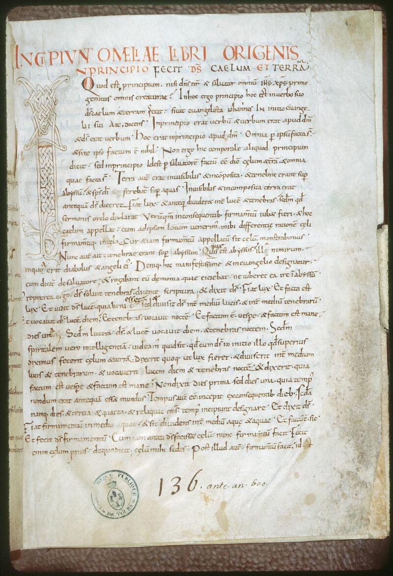 Tours, Bibl. mun., ms. 0252, f. 001