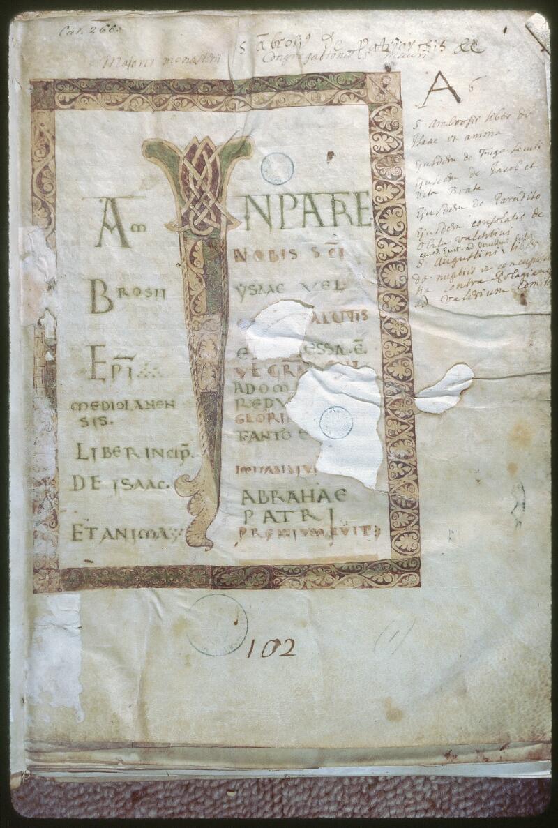 Tours, Bibl. mun., ms. 0266, f. 001
