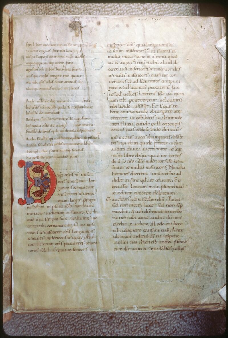 Tours, Bibl. mun., ms. 0291, f. 001