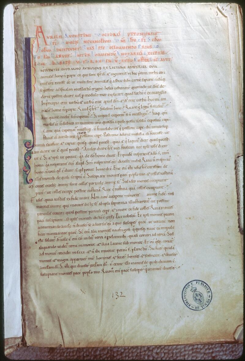 Tours, Bibl. mun., ms. 0292, f. 003