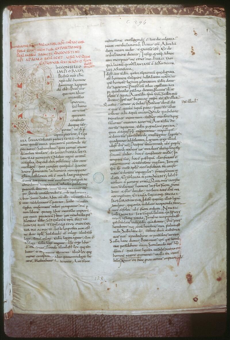 Tours, Bibl. mun., ms. 0294, f. 001 - vue 1