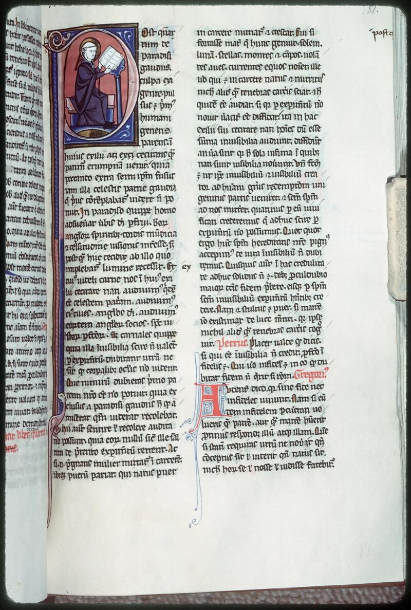 Tours, Bibl. mun., ms. 0327, f. 081 - vue 1
