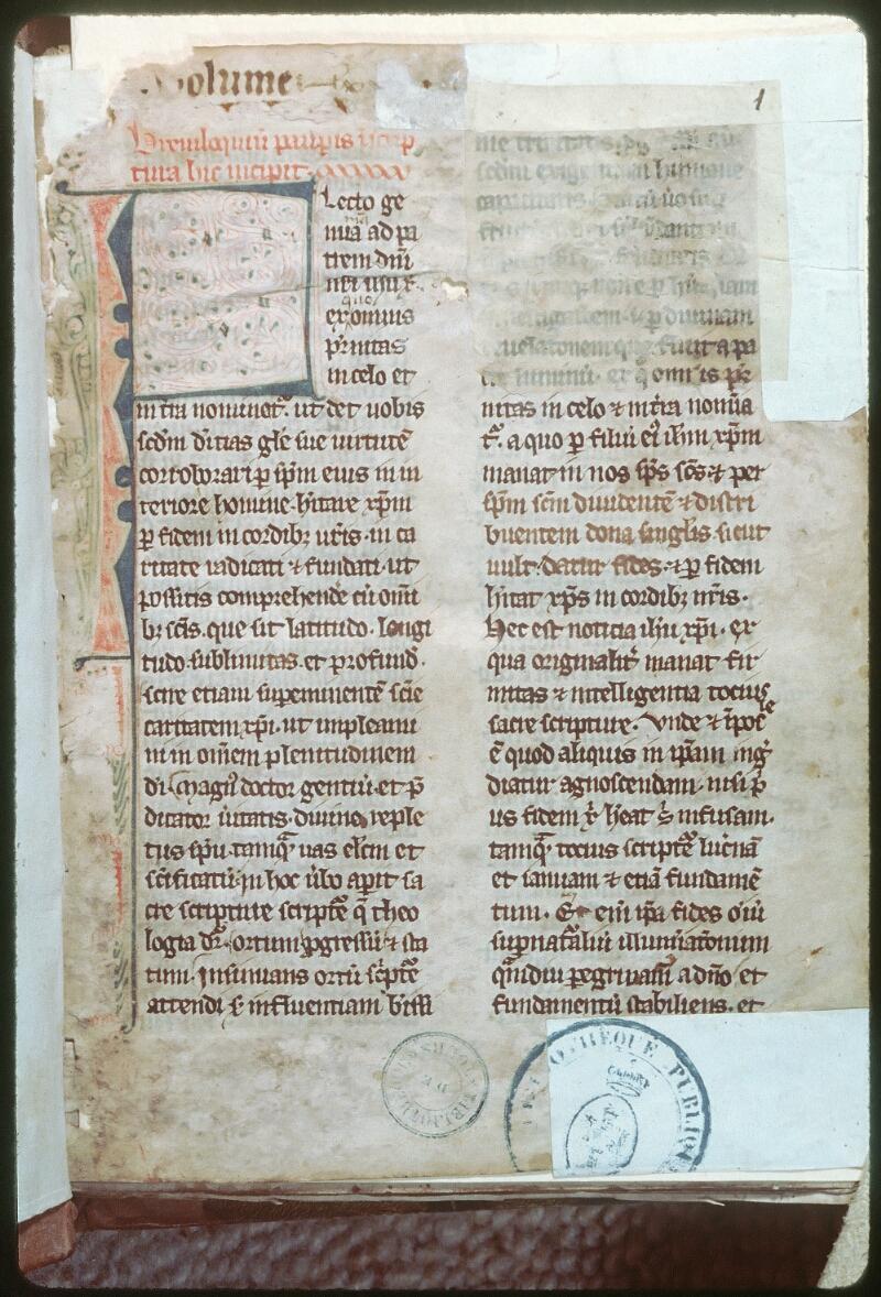 Tours, Bibl. mun., ms. 0375, f. 001