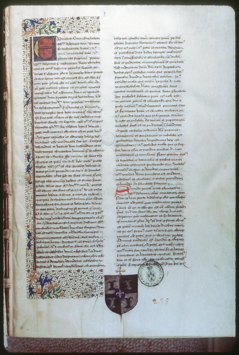 Tours, Bibl. mun., ms. 0390, f. 001 - vue 1
