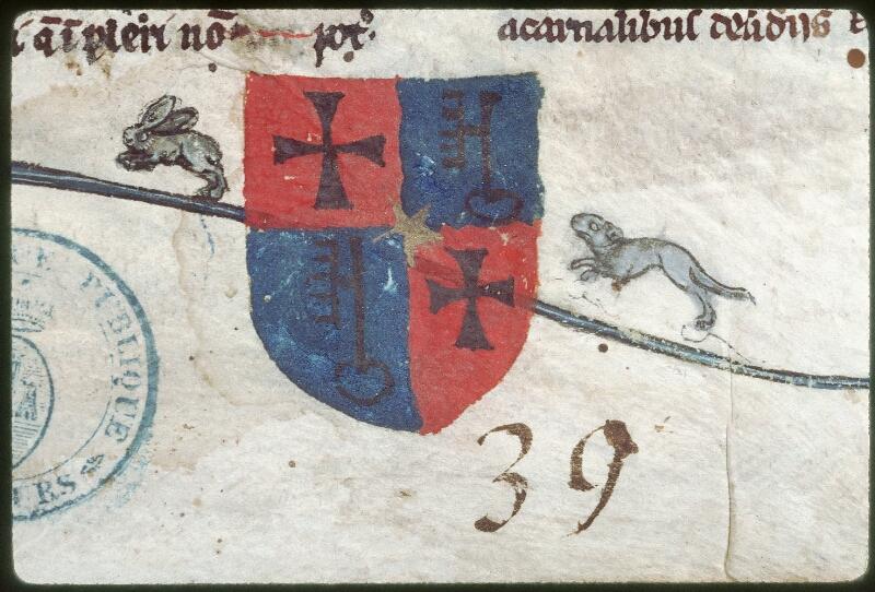 Tours, Bibl. mun., ms. 0460, f. 001 - vue 2