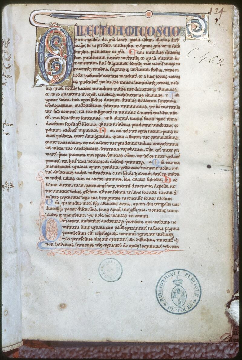 Tours, Bibl. mun., ms. 0462, f. 002