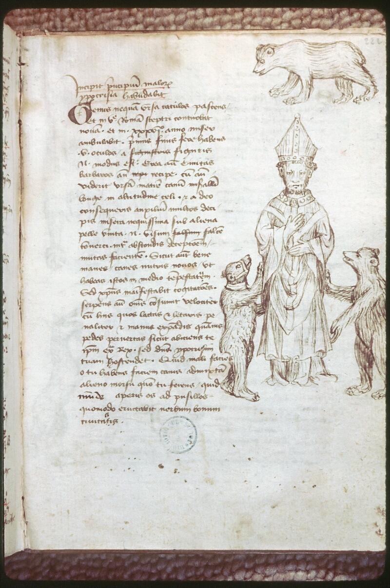 Tours, Bibl. mun., ms. 0520, f. 222 - vue 1