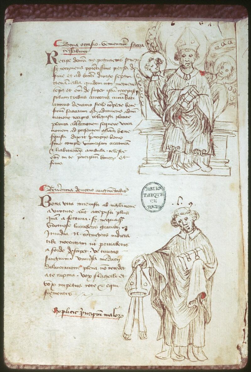 Tours, Bibl. mun., ms. 0520, f. 225v - vue 1
