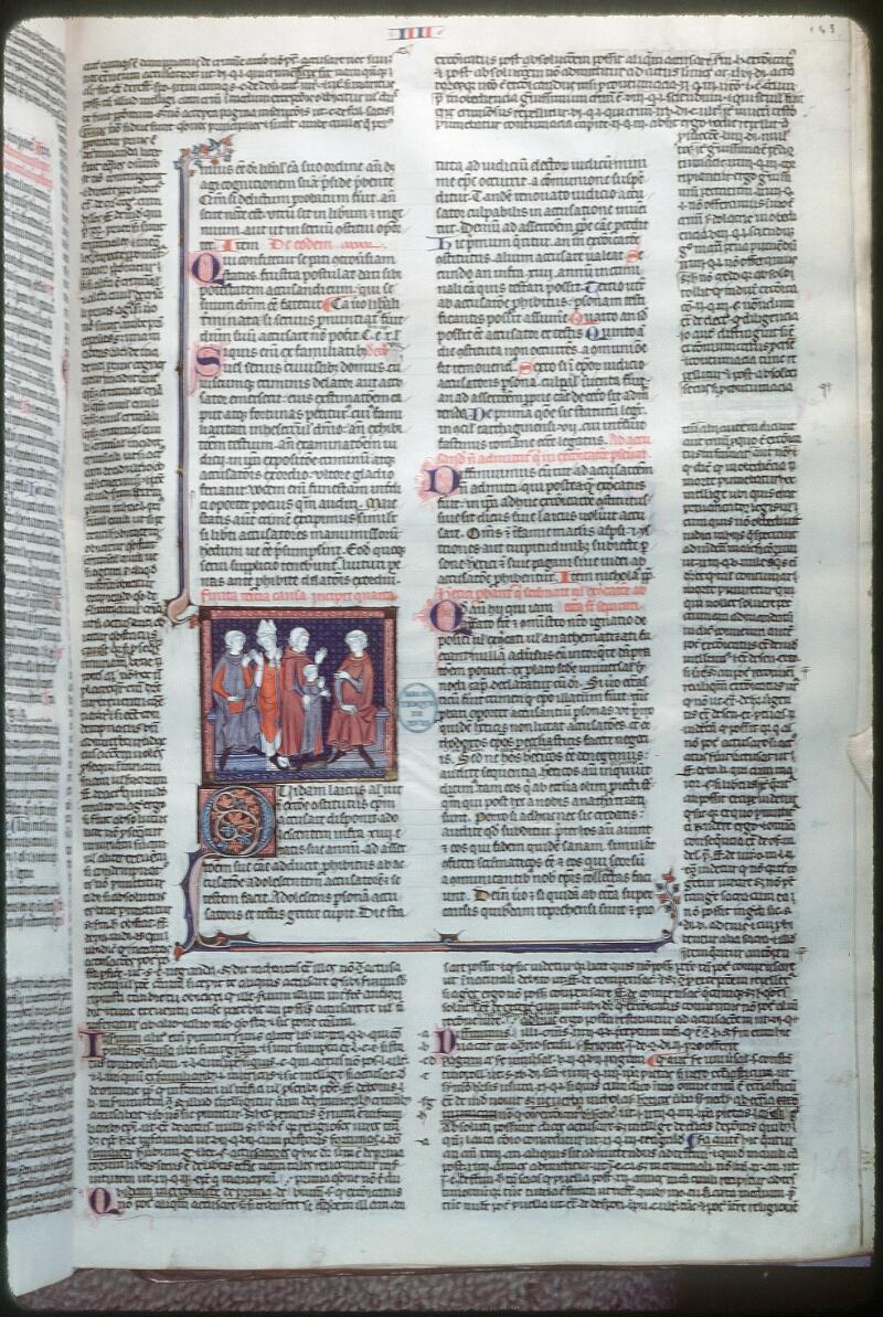 Tours, Bibl. mun., ms. 0558, f. 143 - vue 1