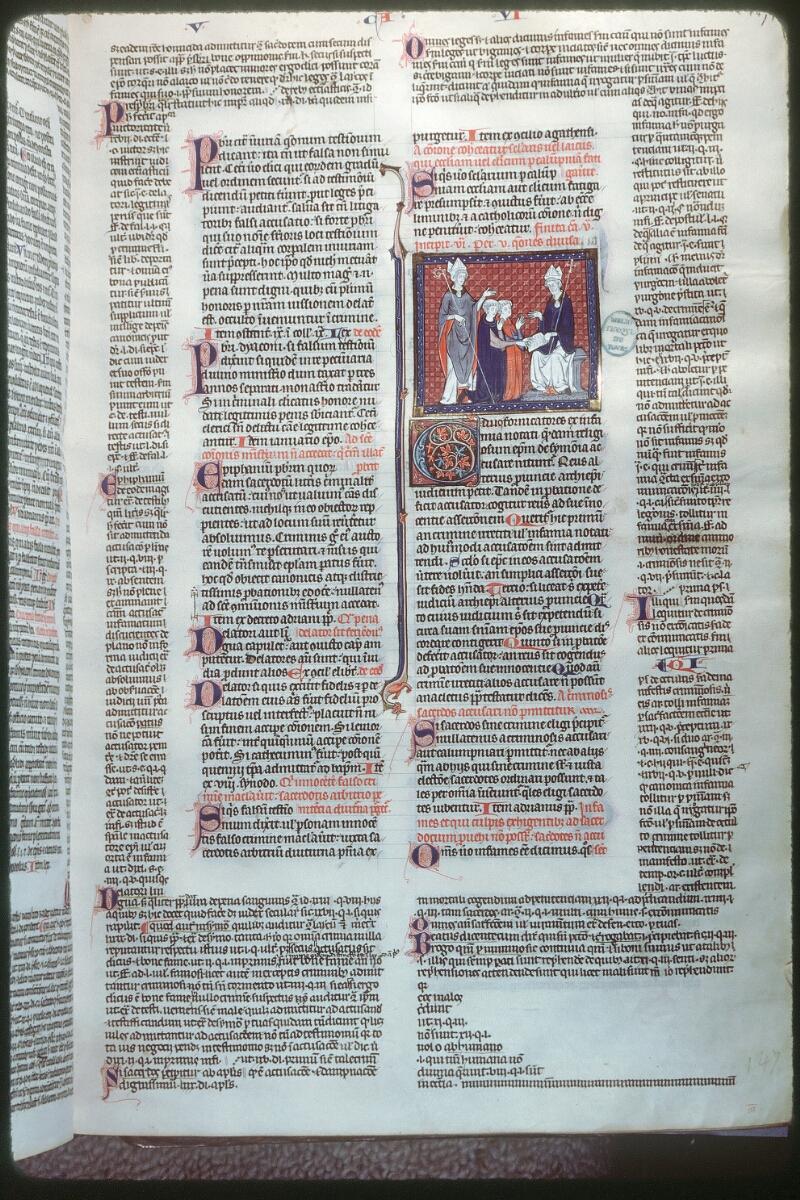 Tours, Bibl. mun., ms. 0558, f. 147 - vue 1
