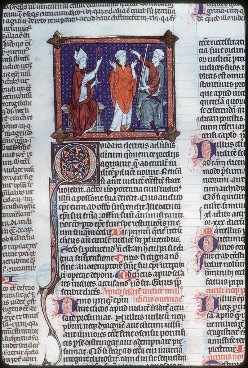 Tours, Bibl. mun., ms. 0558, f. 164v - vue 1