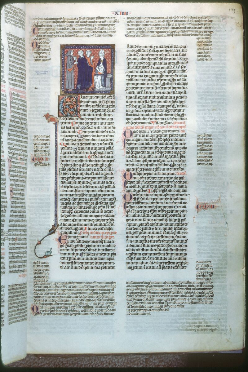 Tours, Bibl. mun., ms. 0558, f. 189 - vue 1
