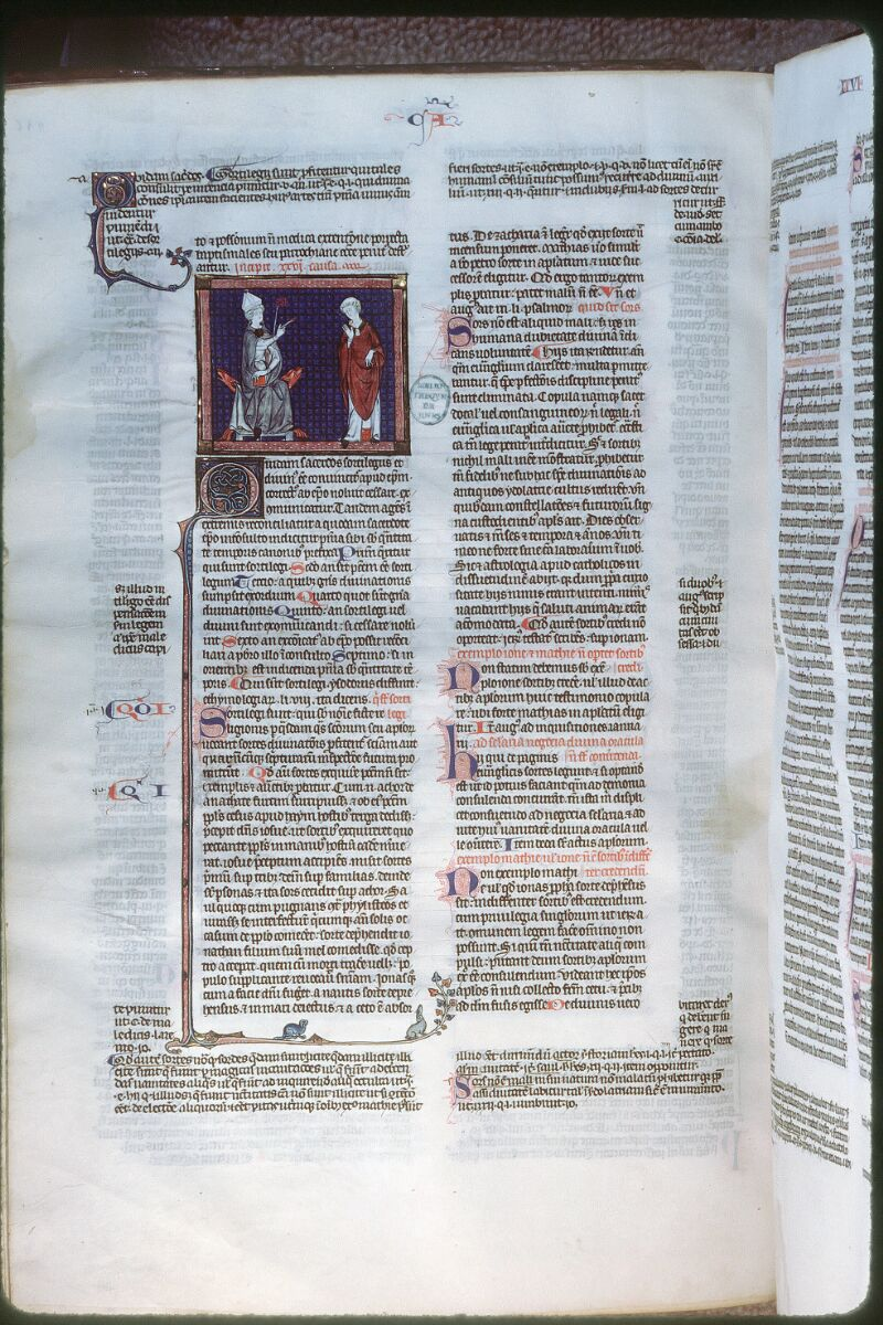 Tours, Bibl. mun., ms. 0558, f. 256v - vue 1