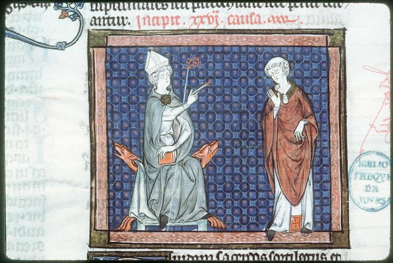 Tours, Bibl. mun., ms. 0558, f. 256v - vue 2
