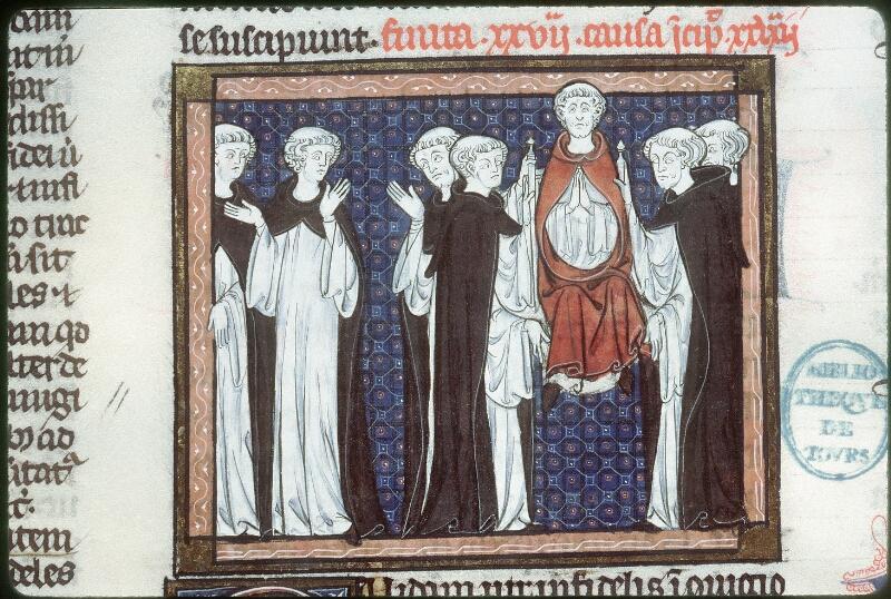 Tours, Bibl. mun., ms. 0558, f. 269v - vue 1