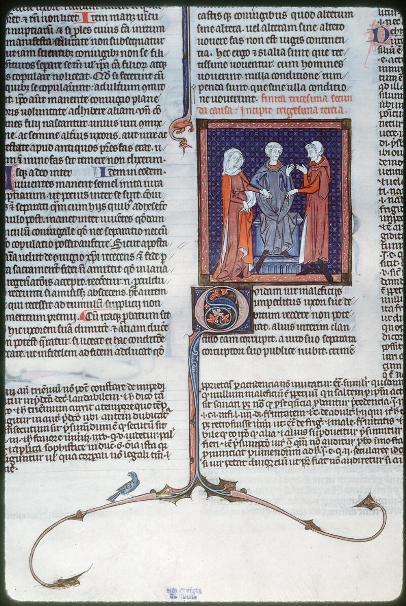 Tours, Bibl. mun., ms. 0558, f. 285v - vue 1