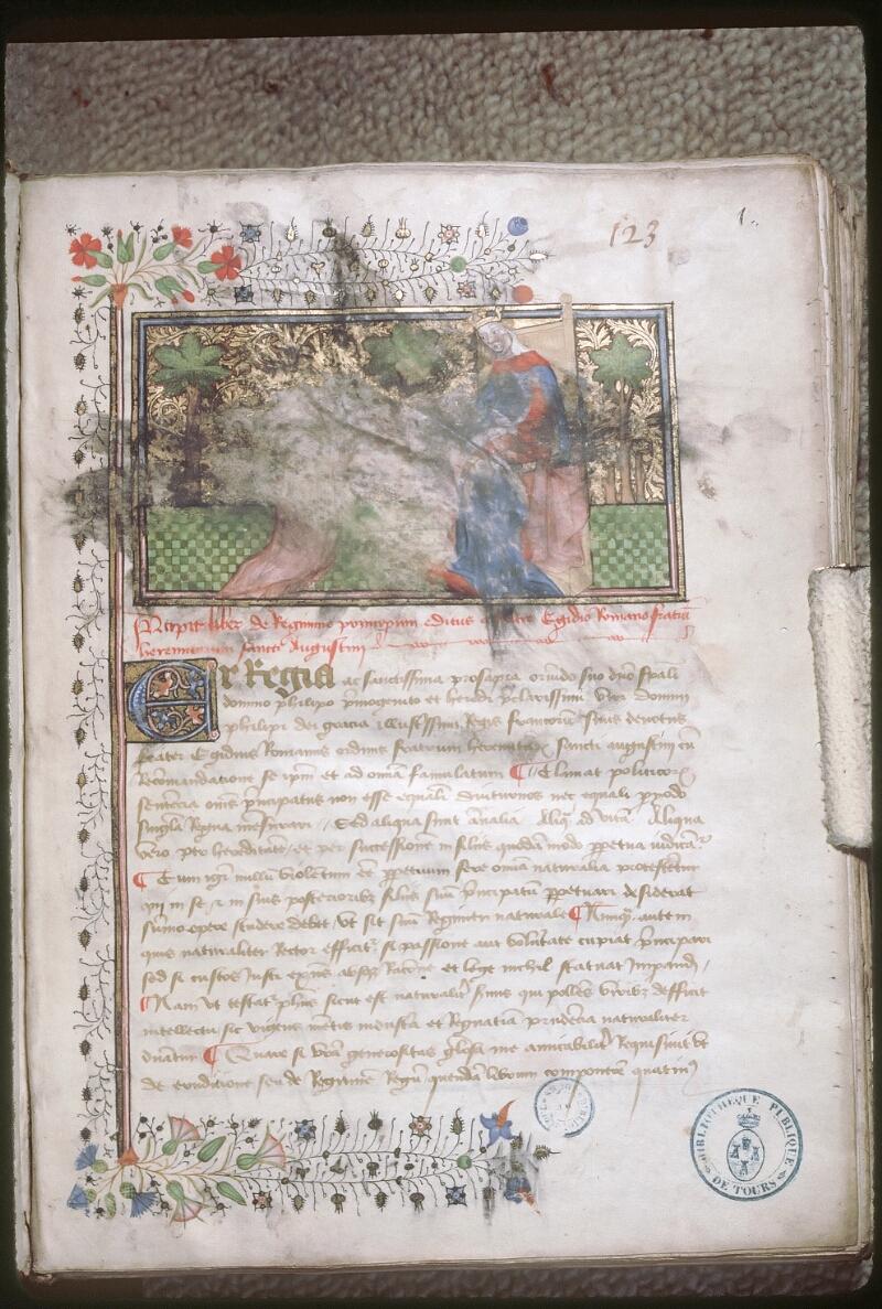 Tours, Bibl. mun., ms. 0764, f. 001 - vue 1