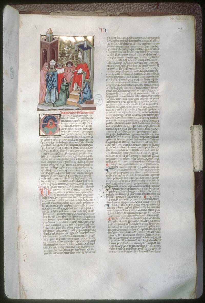 Tours, Bibl. mun., ms. 0573, f. 211 - vue 1