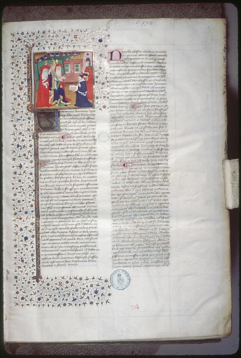 Tours, Bibl. mun., ms. 0572, f. 001 - vue 1