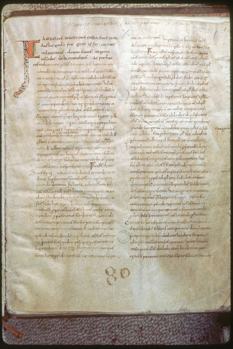 Tours, Bibl. mun., ms. 0287, f. 001