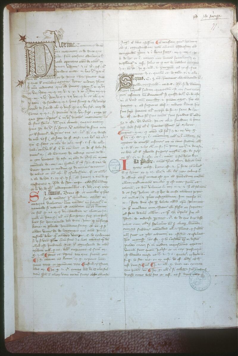 Tours, Bibl. mun., ms. 0574, f. 077 - vue 1