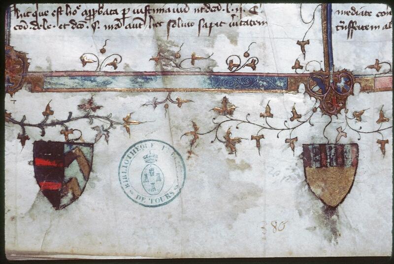 Tours, Bibl. mun., ms. 0644, f. 001 - vue 5