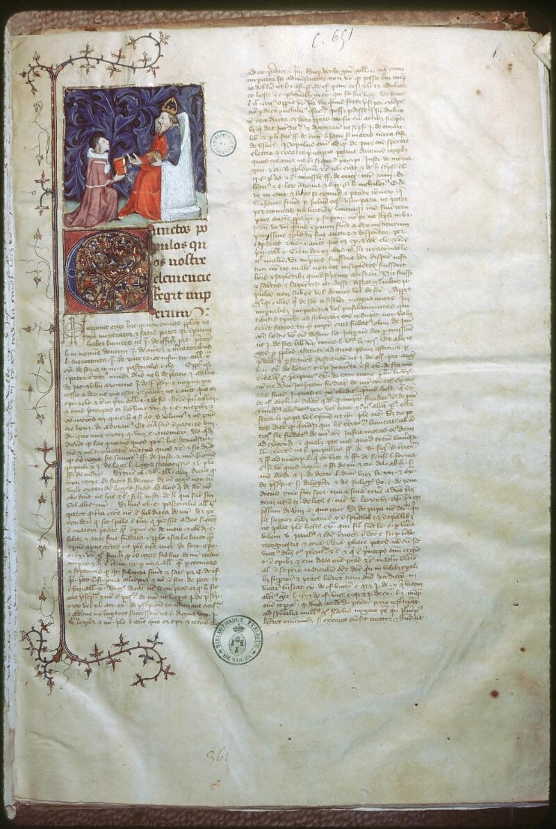 Tours, Bibl. mun., ms. 0651, f. 001 - vue 1