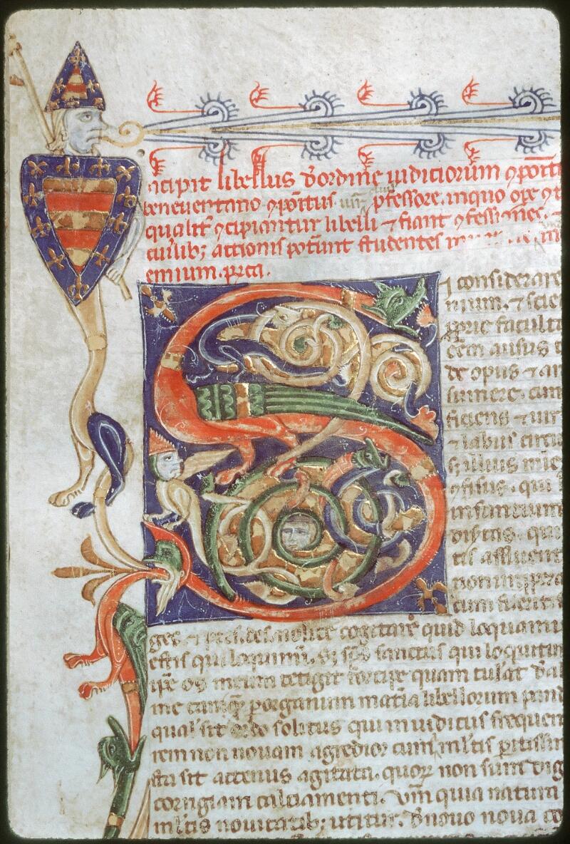 Tours, Bibl. mun., ms. 0654, f. 001 - vue 2