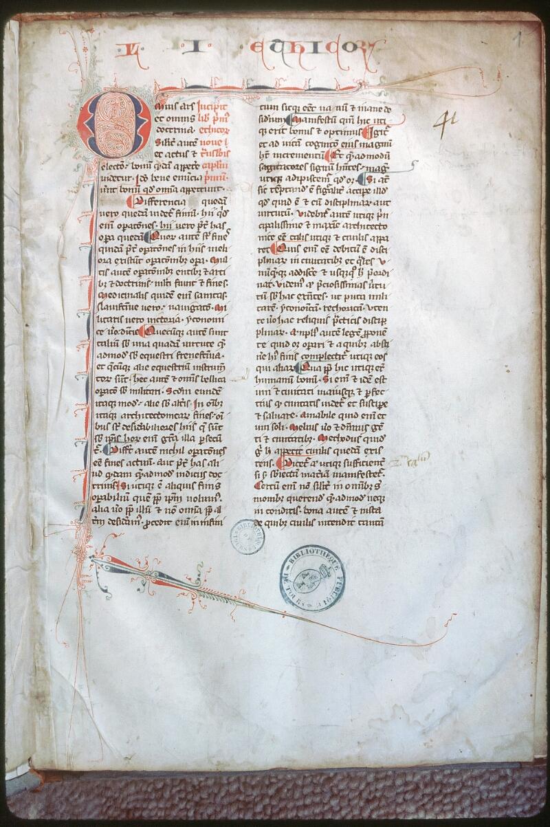 Tours, Bibl. mun., ms. 0685, f. 001