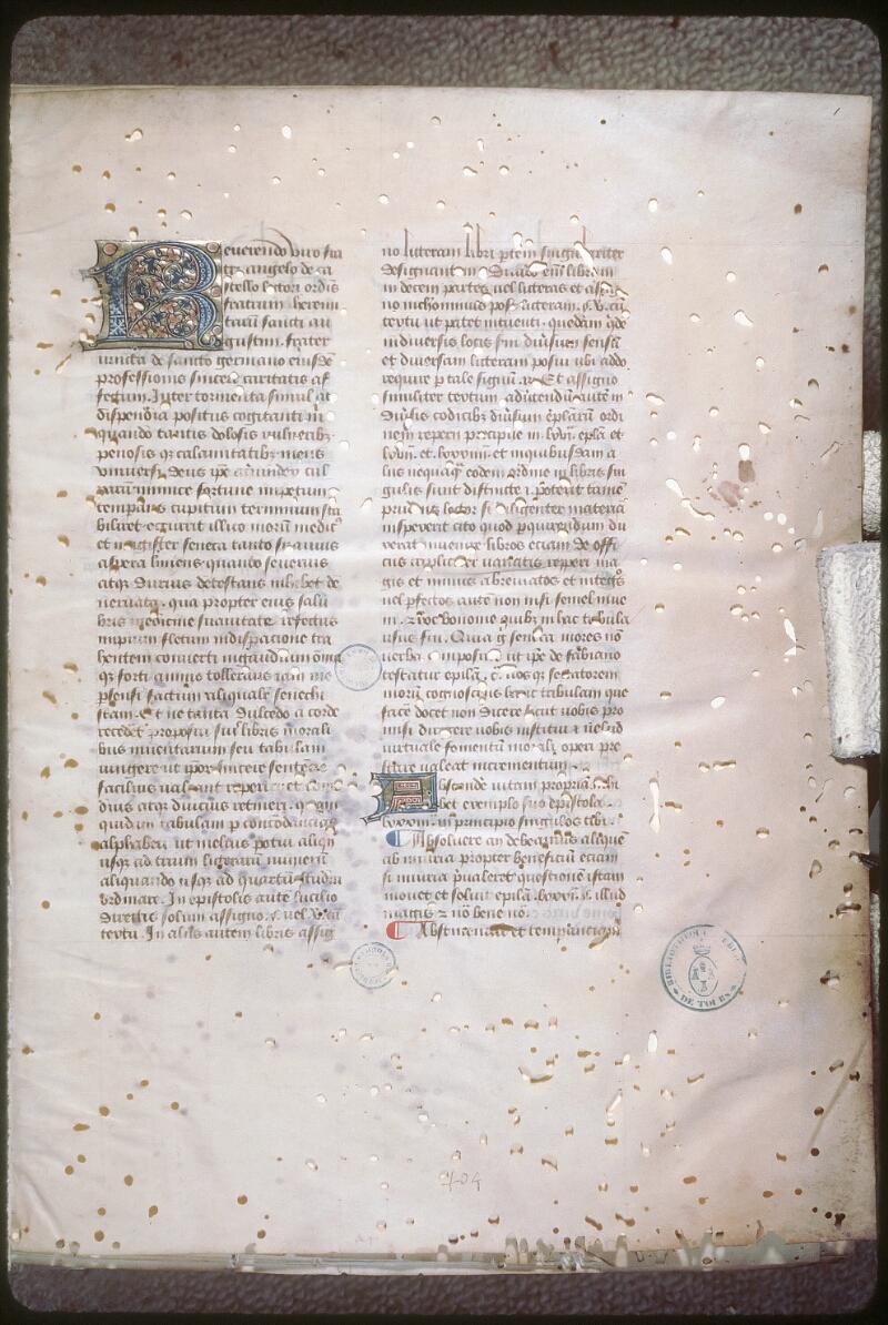 Tours, Bibl. mun., ms. 0693, f. 001