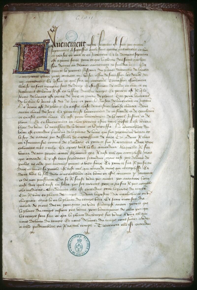 Tours, Bibl. mun., ms. 1011, f. 001
