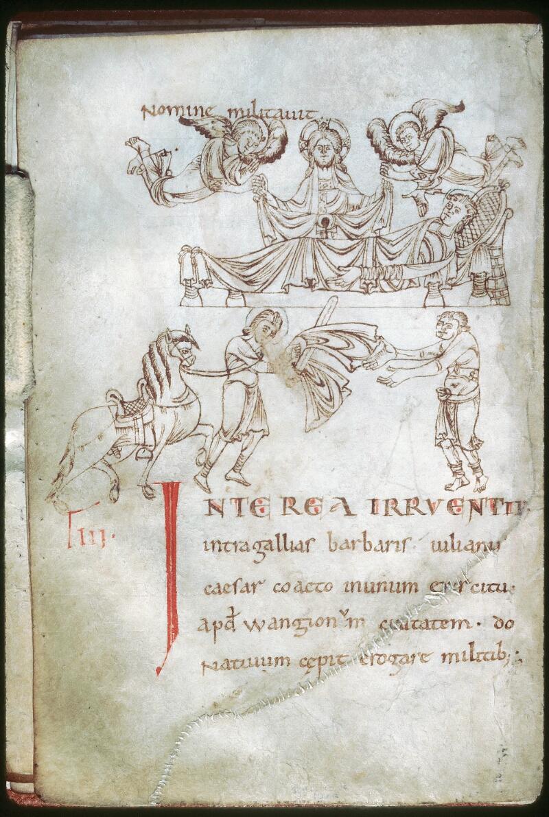 Tours, Bibl. mun., ms. 1018, f. 009v - vue 1