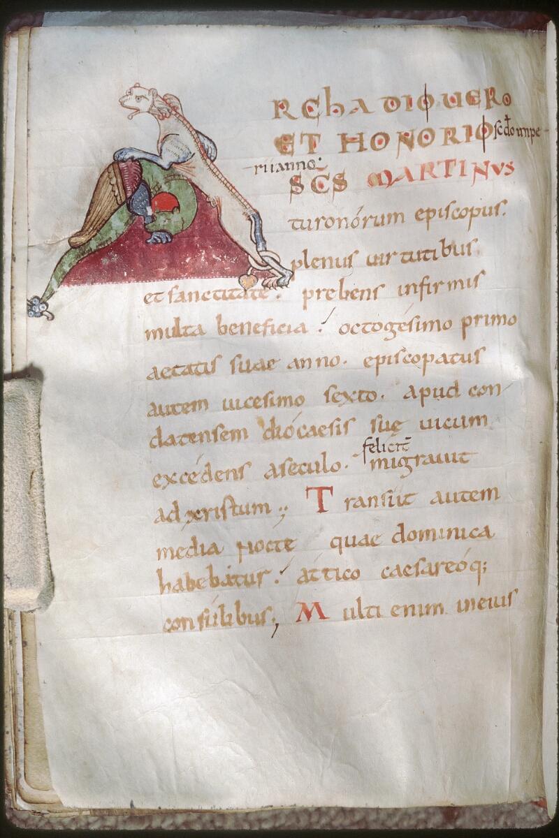 Tours, Bibl. mun., ms. 1018, f. 176v - vue 1