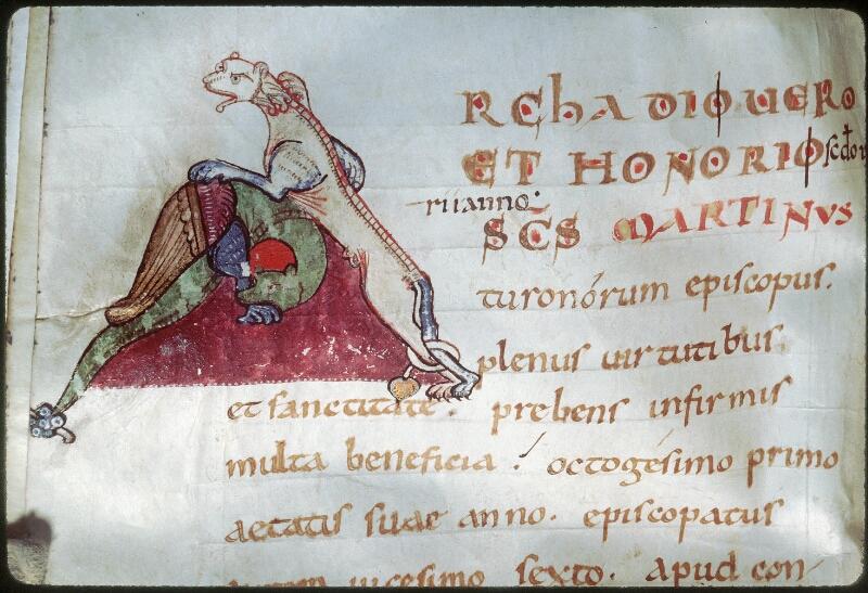 Tours, Bibl. mun., ms. 1018, f. 176v - vue 2