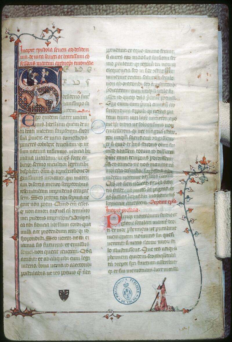 Tours, Bibl. mun., ms. 1023, f. 001 - vue 1