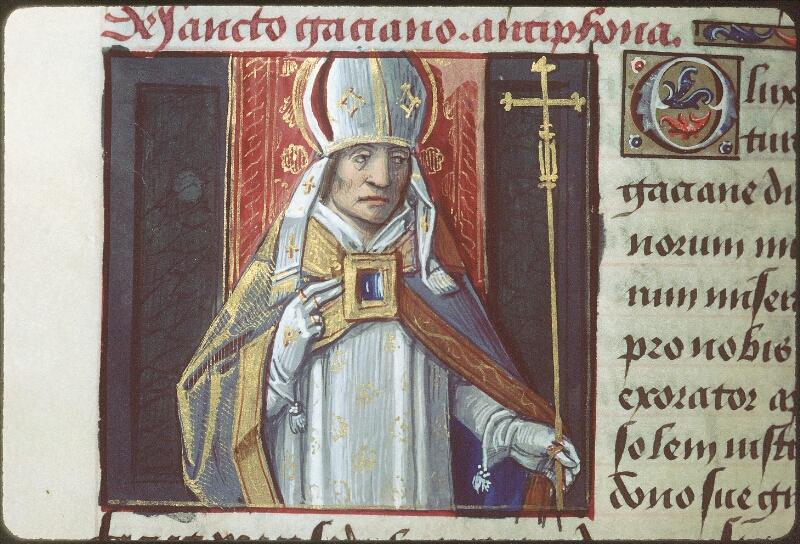 Tours, Bibl. mun., ms. 2104, f. 168v - vue 2