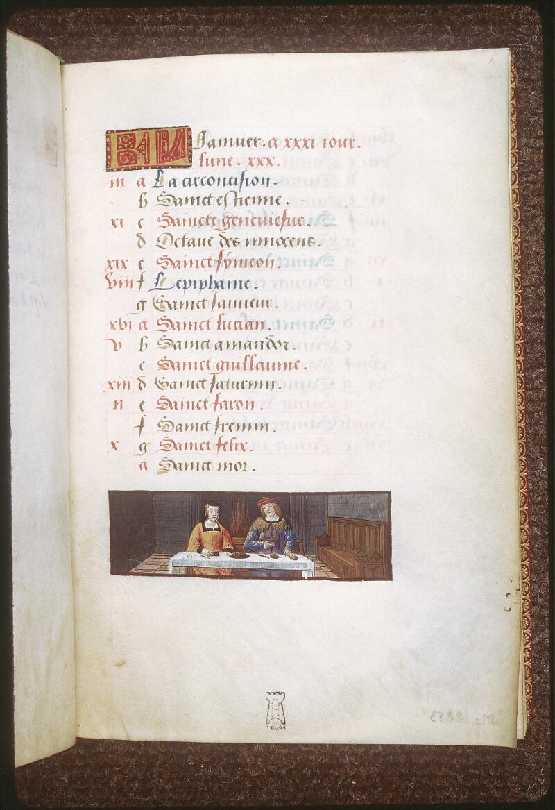 Tours, Bibl. mun., ms. 2283, f. 001 - vue 2