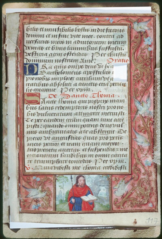 Tours, Bibl. mun., ms. Diocèse 05, f. 117 - vue 1