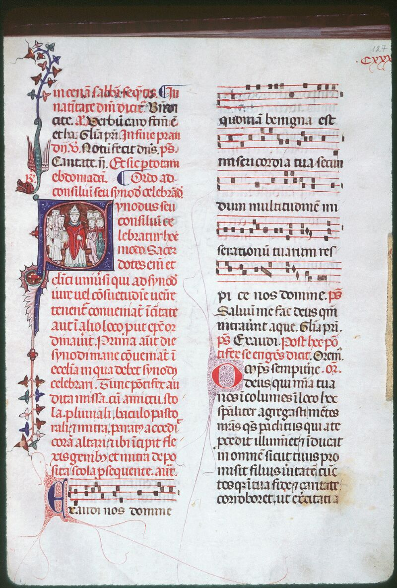 Tours, Bibl. mun., ms. Diocèse 08, f. 127 - vue 1