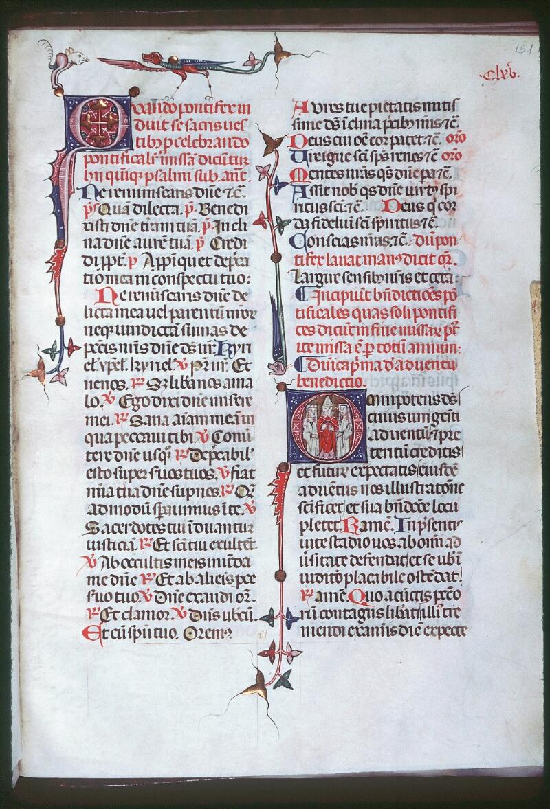 Tours, Bibl. mun., ms. Diocèse 08, f. 151 - vue 1